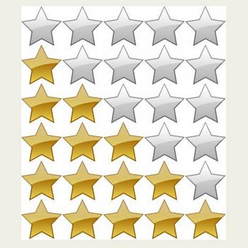 5 つ星評価システム ベクター クリップ アート - 無料ベクター | 無料素材イラスト・ベクターのフリーデザイナー