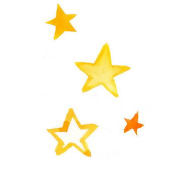 星|Sui-Sai|水彩画イラストフリー素材集