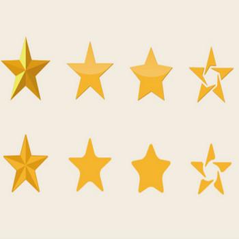 「星」素材 フリー素材 イラレデータ | フリー素材 ブログ
