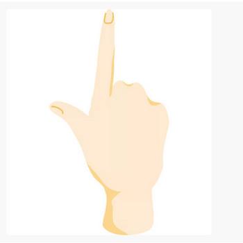 手(指差し)(後ろ) – 無料で使えるイラスト素材・PowerPointテンプレート配布サイト【素材工場】