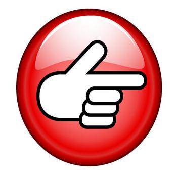 指差しボタンの無料イラスト素材|iiイラストイメージ