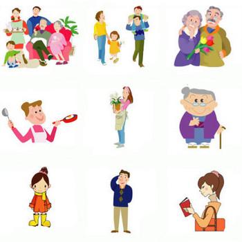 イラスト素材−人物 デザイン用レンタルフリー素材/無料ダウンロード MMGクリエイティブネット