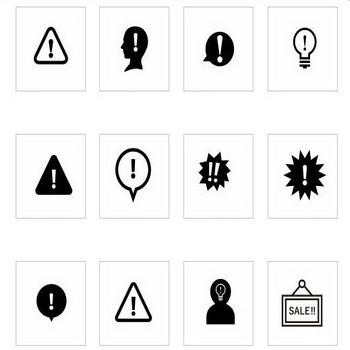 ビックリマーク|シルエット イラストの無料ダウンロードサイト「シルエットAC」