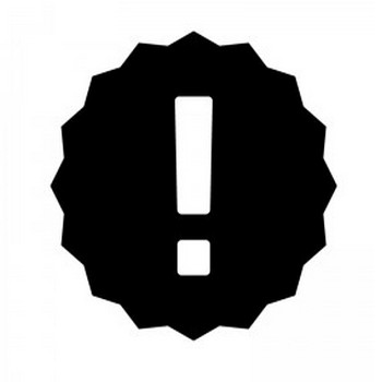 ビックリマークのシルエット | 無料のAi・PNG白黒シルエットイラスト