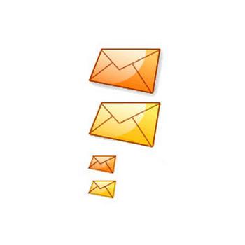 ツヤっと透明感のあるメールアイコン(大・小2色) - フリー素材「取り放題.com」|ネットショップ、ECサイトに最適なホームページ・WEB素材