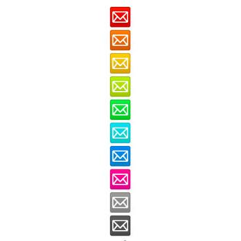 四角背景付きメールマークアイコンのフリー素材(大・小10色) - フリー素材「取り放題.com」|ネットショップ、ECサイトに最適なホームページ・WEB素材