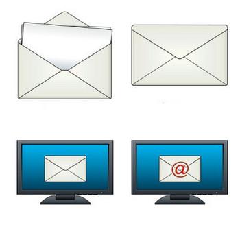 メールのイラスト-無料ビジネスイラスト素材のビジソザ