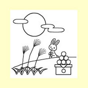 お月見(十五夜)1/秋の季節・行事/無料イラスト【みさきのイラスト素材】