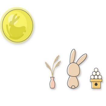 幼稚園児のイラスト・絵カード:【9月】お月見のイラスト - livedoor Blog(ブログ)
