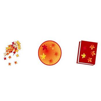 イラストポップ | 季節のイラスト秋-11月の無料素材-晩秋、紅葉、どんぐり、きのこ