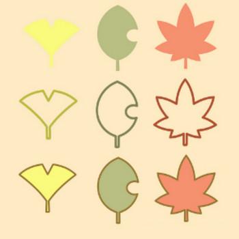 » 紅葉イラスト(いちょう・もみじ・落ち葉) / 秋の項目マークなどに | 可愛い無料イラスト素材集