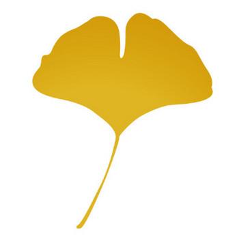 「イチョウの葉2」 - 無料イラスト愛