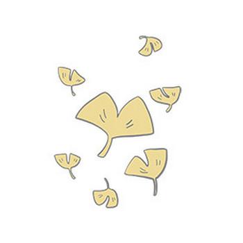 【フリー素材】紅葉のいちょう| Season Stock Iroha