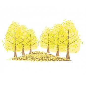 銀杏並木のイラスト素材 | イラスト無料・かわいいテンプレート