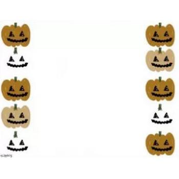 フリー素材:フレーム素材;ハロウィンのかぼちゃのおばけのイラスト(640×480pix) | webデザイン素材 tigpig