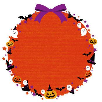 [無料イラスト] ハロウィンの円形フレーム - パブリックドメインQ:著作権フリー画像素材集