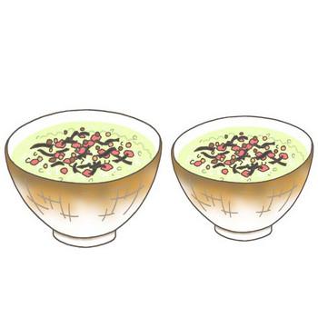 無料 食品イラスト・カット・クリップアート素材 - 茶漬け・鮭茶漬け・サケ茶漬け・御飯・ごはん