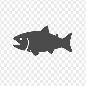 鮭アイコン1 | アイコン素材ダウンロードサイト「icooon-mono」 | 商用利用可能なアイコン素材が無料(フリー)ダウンロードできるサイト