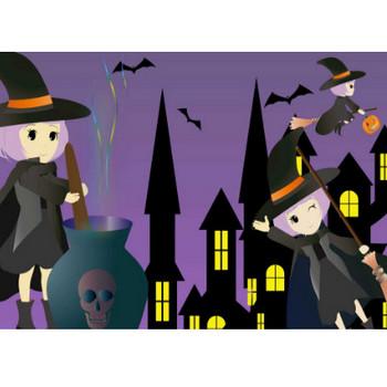 魔女イラスト - 可愛いハロウィンのキャラクター無料素材 - チコデザ
