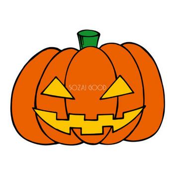 ハロウィンかぼちゃのランタン 秋の無料イラスト33411 | 素材Good
