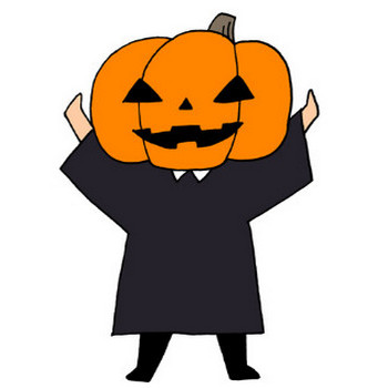 ハロウィンかぼちゃのコスプレイラストフリー素材