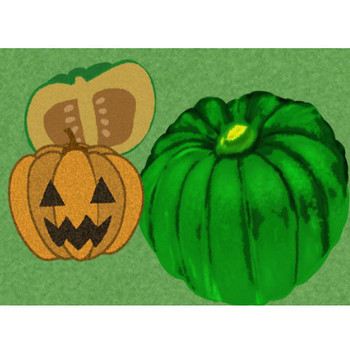 かぼちゃイラスト - フリーの可愛いハロウィン野菜素材 - チコデザ