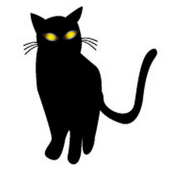無料|WEB素材|イラスト|ハロウィン/黒猫1