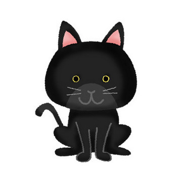 黒猫 | フリーイラスト素材 イラストリウム