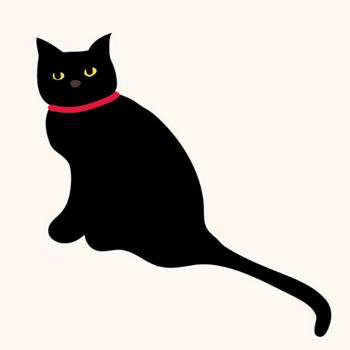 黒猫(ネコ)のイラスト♪クールな表情♪ | 商用フリー(無料)のイラスト素材なら「イラストマンション」