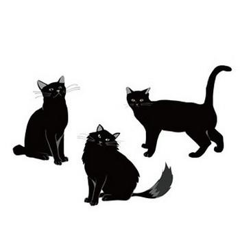 【かっこいい・クール】黒猫さんのイラスト【無料素材】 | じゃぱねすくライフ