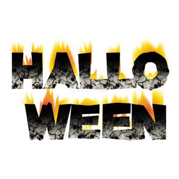 ハロウィンかっこいい炎の文字・ロゴ無料イラスト画像57204 | 素材Good