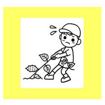 いもほり(芋掘り)1/秋の季節・行事/保育/無料イラスト【みさきのイラスト素材】