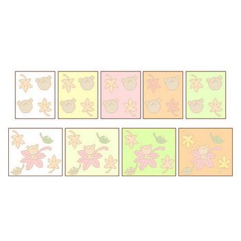 【素材屋405番地】季節素材・秋の壁紙|WEB用イラスト素材・みきゆフォント