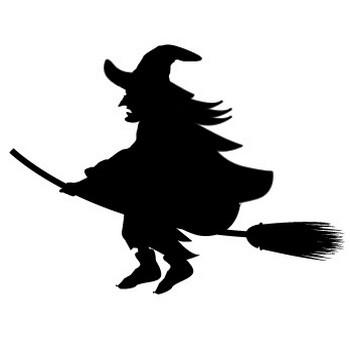 魔女シルエットイラスト 画像フリー素材|無料素材倶楽部