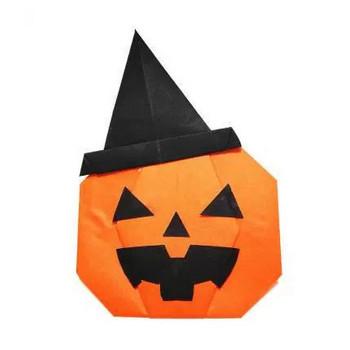折り紙でハロウィンカボチャの作り方 - ぎんがむちっく 手作り子ども服や可愛い小物たち