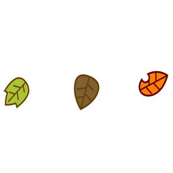 落ち葉のイラスト|かわいいフリー素材、無料イラスト|素材のプチッチ