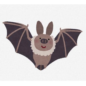 飛んでいるコウモリのイラスト | かわいいフリー素材集 いらすとや