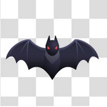 翼を広げたコウモリのフリーイラスト素材