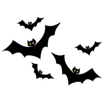 [無料イラスト] コウモリの群れ - パブリックドメインQ:著作権フリー画像素材集