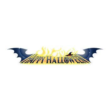 ハロウィンかっこいいコウモリ文字・ロゴ無料イラスト54762 | 素材Good