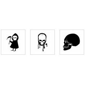 骸骨 シルエット イラストの無料ダウンロードサイト「シルエットAC」