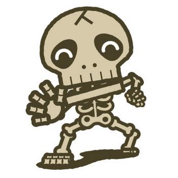 骸骨のイラスト かわいいフリー素材、無料イラスト 素材のプチッチ