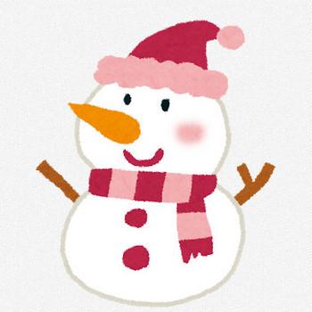 クリスマスのイラスト「雪だるま」   かわいいフリー素材集 いらすとや