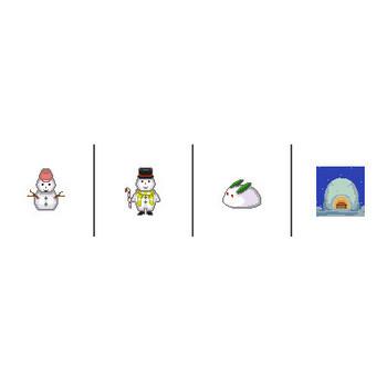 コタツやストーブ、雪だるまお鍋などのGIFアニメ イラスト素材の素材ダス