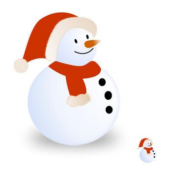 サンタ帽の雪だるま 画像フリー素材|無料素材倶楽部