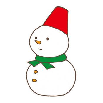 雪だるま   Free Illust Net -フリーイラストネット-