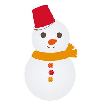 [無料イラスト] 雪だるま - パブリックドメインQ:著作権フリー画像素材集