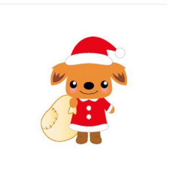 イラスト クリスマス〈犬モチーフのイラスト素材〉