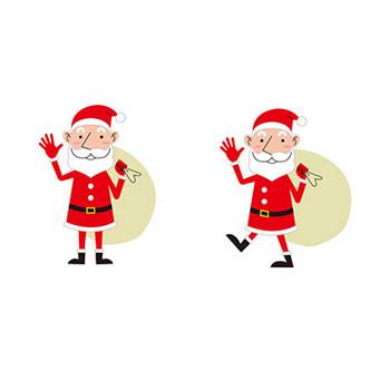 【商用無料】クリスマス・サンタクロースのフリーイラスト素材