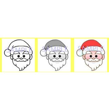 サンタクロース1/イラスト素材/みさきのクリスマスカード(christmas card)